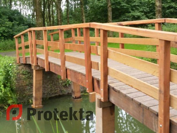 Bruggen nieuwbouw protekta - Houten brugtuin ...